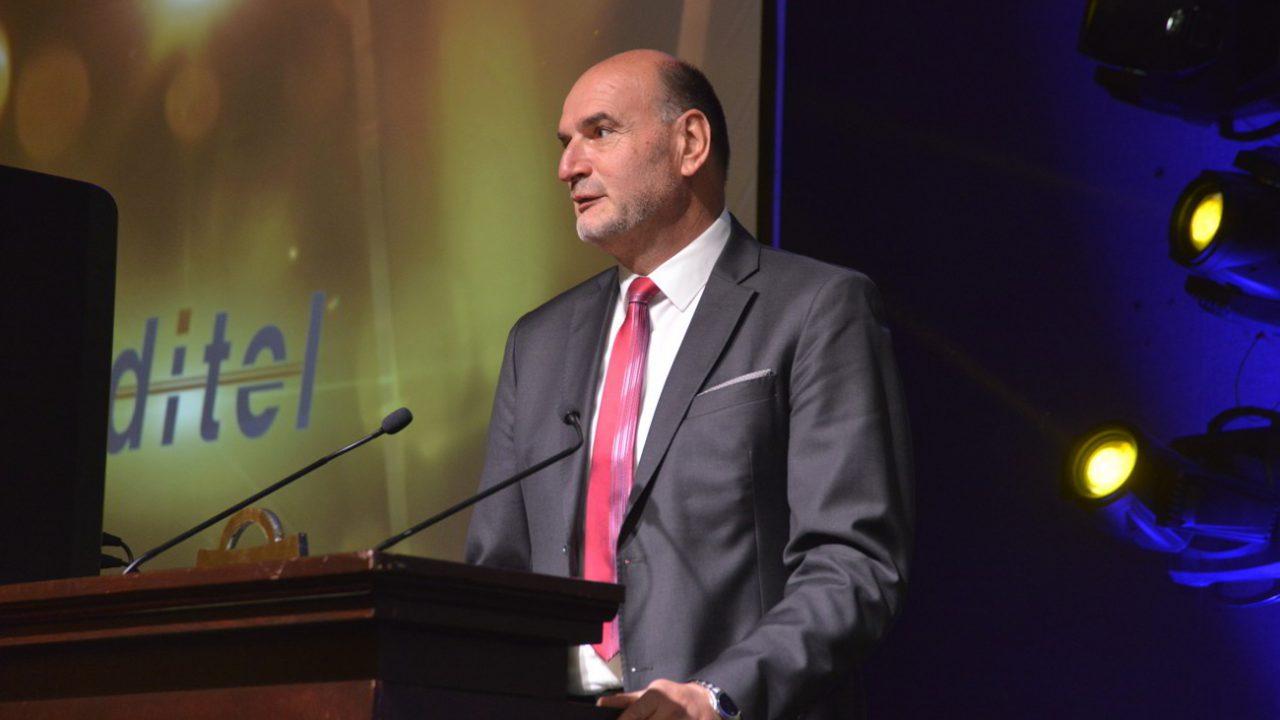 Igor Zamlić, osnivač tvrtke RIS d.o.o., na dodjeli nagrade Zlatna košarica